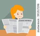 vector illustration of fake...   Shutterstock .eps vector #591517298