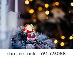 gingerbread in shape of santa... | Shutterstock . vector #591526088