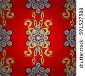 seamless royal luxury golden... | Shutterstock .eps vector #591527588