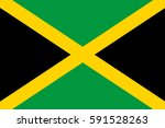 jamaica flag vector icon. | Shutterstock .eps vector #591528263