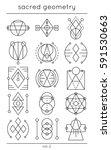 sacred symbols. vector cosmic... | Shutterstock .eps vector #591530663