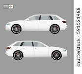 car vector template on gray... | Shutterstock .eps vector #591531488