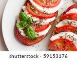 insalata caprese | Shutterstock . vector #59153176