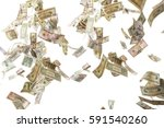money falling from sky | Shutterstock . vector #591540260
