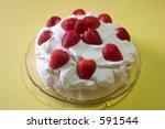 a pavlova desert with whipped... | Shutterstock . vector #591544
