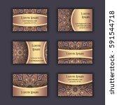 vector business card design... | Shutterstock .eps vector #591544718