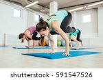 Group Women Are Practicing Yoga ...