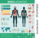 medical infographic set with...   Shutterstock .eps vector #591549683