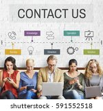 contact us help business... | Shutterstock . vector #591552518