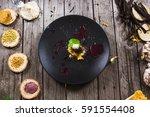 molecular modern cuisine... | Shutterstock . vector #591554408