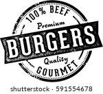 premium burgers restaurant menu ... | Shutterstock .eps vector #591554678