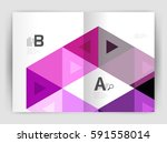 modern business brochure or... | Shutterstock .eps vector #591558014