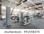 fitness hall with fitness... | Shutterstock . vector #591558374