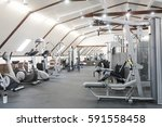 fitness hall with fitness... | Shutterstock . vector #591558458