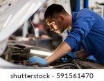 car service  repair ... | Shutterstock . vector #591561470