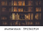 blurred  image many old books... | Shutterstock . vector #591561914