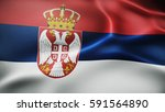 flag of republic of serbia | Shutterstock . vector #591564890