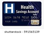 health savings account debit... | Shutterstock . vector #591565139