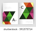modern business brochure or... | Shutterstock .eps vector #591575714