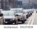 close up of the lane of cars in ... | Shutterstock . vector #591575939