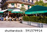 Small photo of Paris, France-May 05, 2016: the famous cafe Les deux Magots located in Saint Germain des Pres area of Paris.It has been frequented by Ernest Hemingway, Pablo Picasso,Albert Camus, James Joyce...