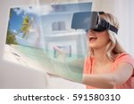 technology  augmented reality ... | Shutterstock . vector #591580310