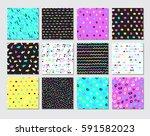 hand drawn seamless pattern... | Shutterstock .eps vector #591582023