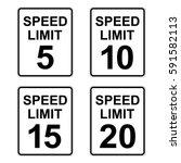 Us Speed Limit Sign Set 5   20...