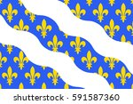 flag of yvelines is a french... | Shutterstock . vector #591587360