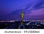 Golden Buddha Statue In Khao...