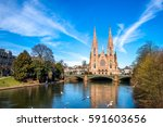 strasbourg pauls church  | Shutterstock . vector #591603656