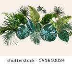 vector seamless vintage... | Shutterstock .eps vector #591610034