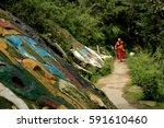 Tibetan Monk On His Way