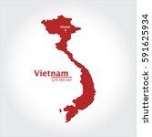 vietnam map  with extensive... | Shutterstock .eps vector #591625934
