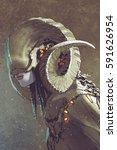 dark fantasy human creature... | Shutterstock . vector #591626954
