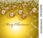 christmas background in eps10... | Shutterstock .eps vector #59163490