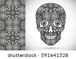 day of the dead monochrome... | Shutterstock .eps vector #591641528