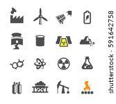 power sorce icon set vector | Shutterstock .eps vector #591642758