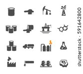 oil icon set vector | Shutterstock .eps vector #591642800