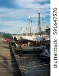 paraty  rio de janeiro   may 1  ... | Shutterstock . vector #591647570