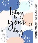 hand drawn lettering poster   ... | Shutterstock .eps vector #591651350