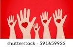 conceptual image of charity... | Shutterstock . vector #591659933