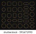 borders and frames golden... | Shutterstock .eps vector #591671993