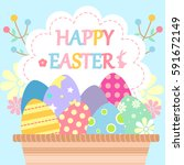 cartoon happy easter great for... | Shutterstock . vector #591672149