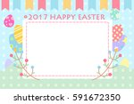 cartoon happy easter great for... | Shutterstock . vector #591672350