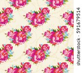 seamless floral pattern with... | Shutterstock .eps vector #591679514