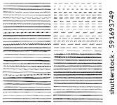 set of vector templates hand... | Shutterstock .eps vector #591693749