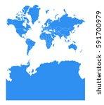 vector map antarctica country | Shutterstock .eps vector #591700979