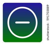 negative symbol illustration.... | Shutterstock .eps vector #591703889