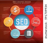 seo development info graphics...   Shutterstock .eps vector #591709934